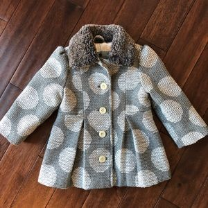 Darling Baby Girl Fur Collar Coat
